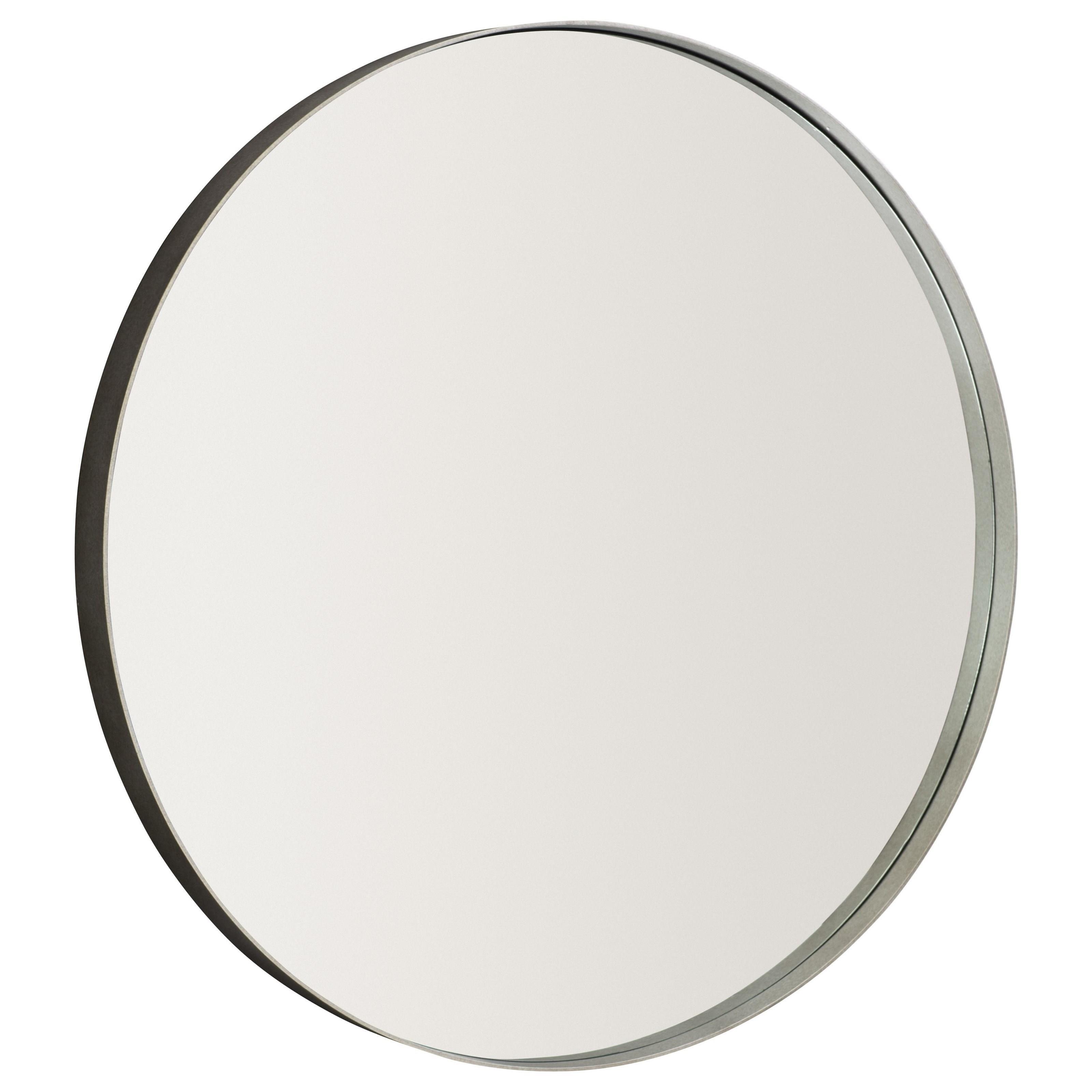 Loft - Logan Square Oakley Round Metal Mirror by Bernhardt at Baer's Furniture