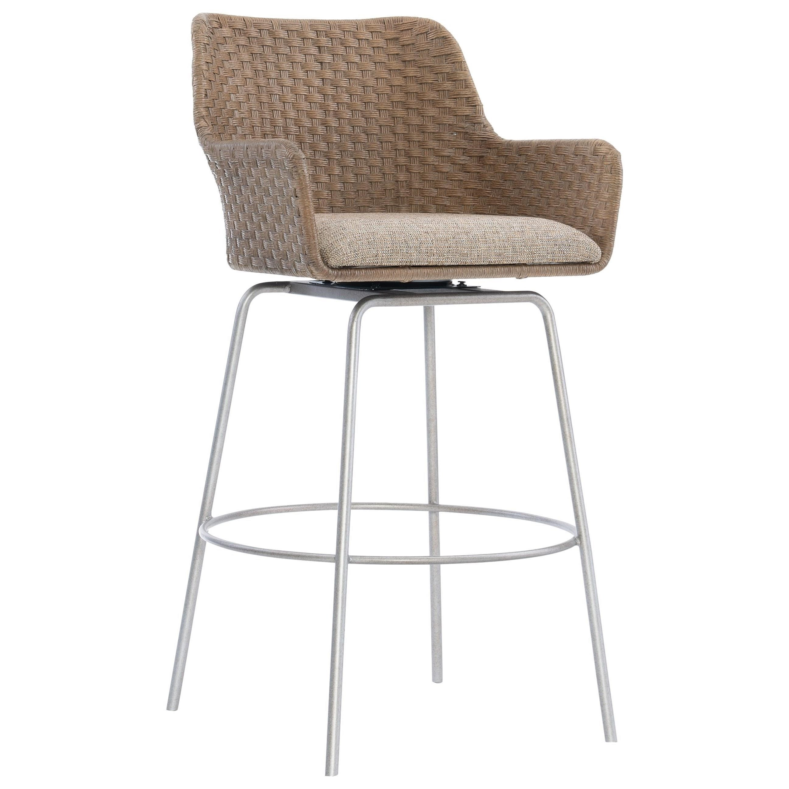 Loft - Logan Square Meade Swivel Bar Stool by Bernhardt at Baer's Furniture
