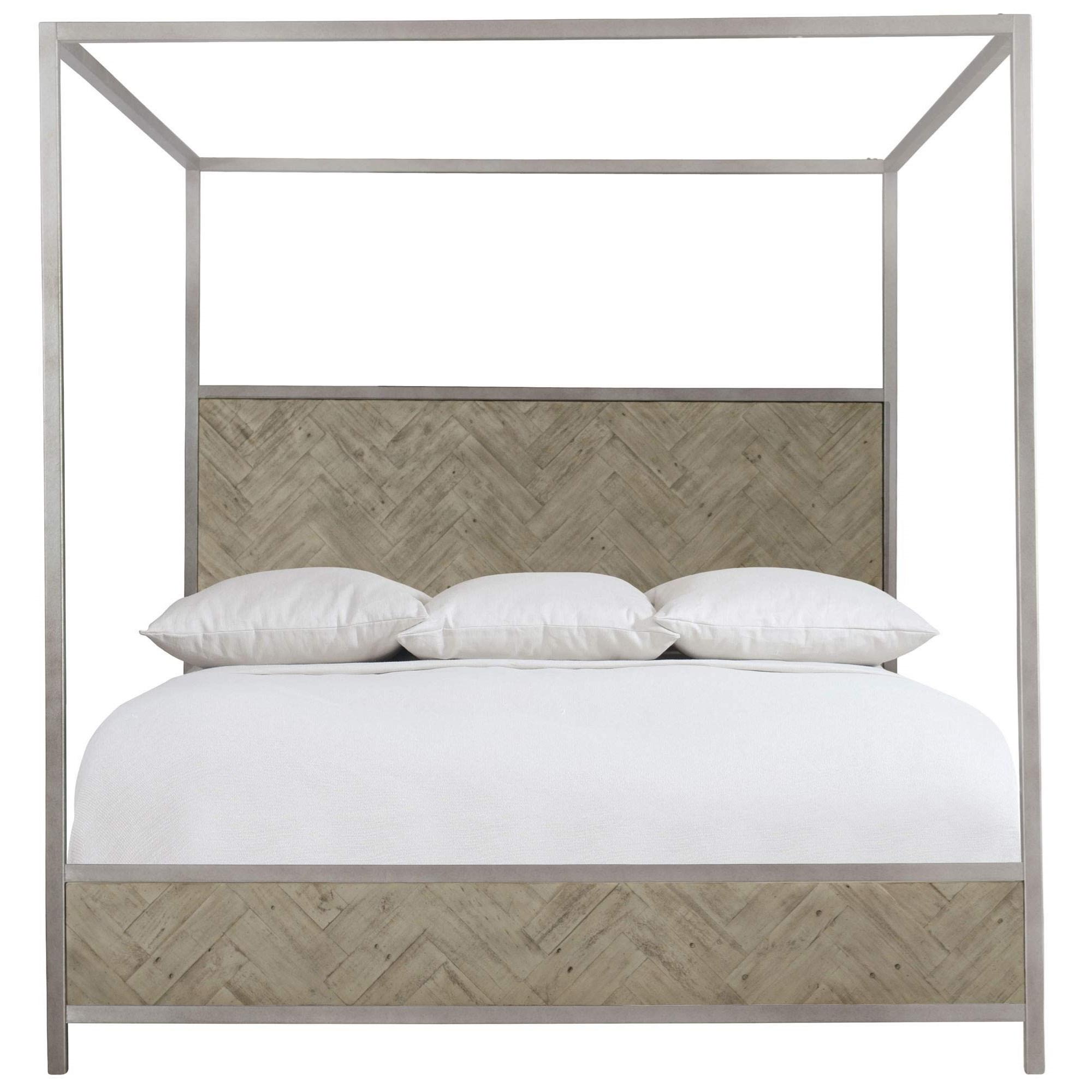 Loft - Highland Park Milo King Canopy Bed by Bernhardt at Baer's Furniture