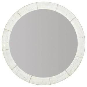 Rustic-Modern Round Mirror