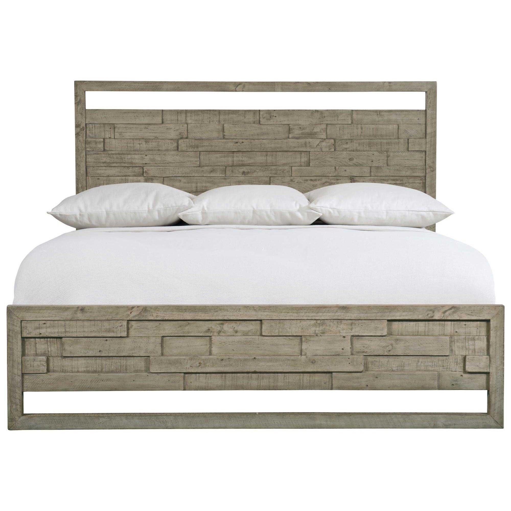 Loft - Highland Park Shaw King Panel Bed by Bernhardt at Baer's Furniture