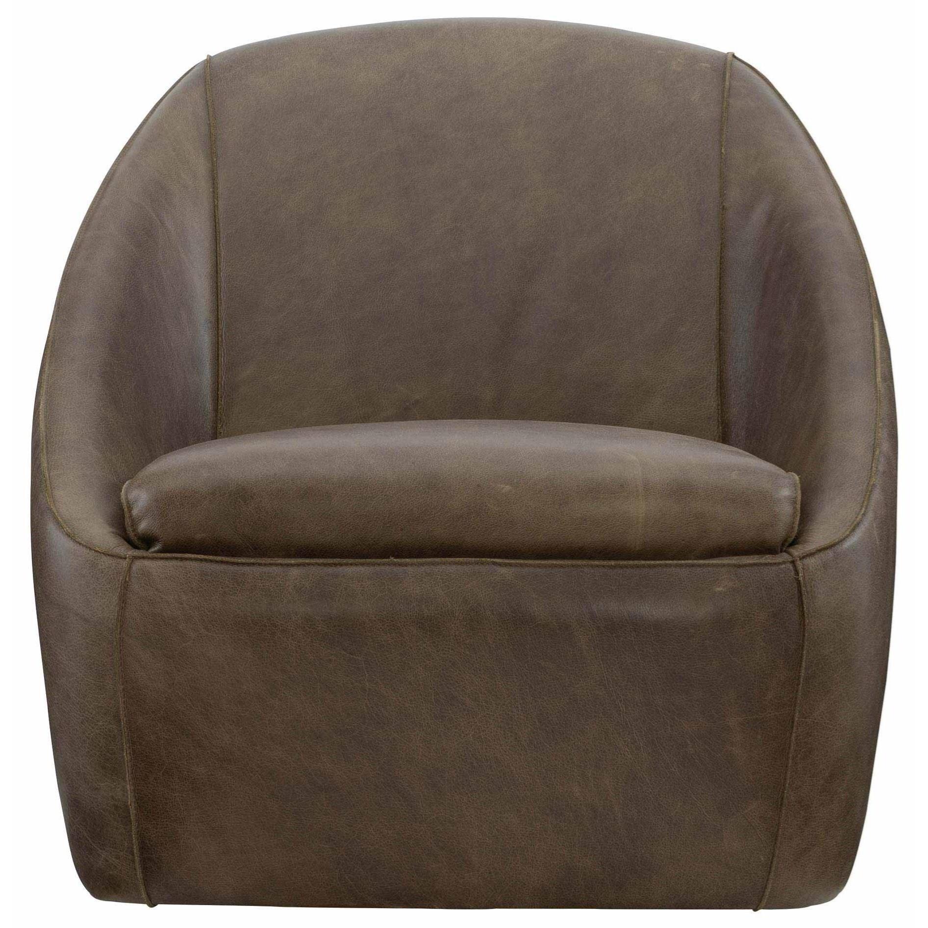 Loft - Highland Park Webster Swivel Chair by Bernhardt at Baer's Furniture