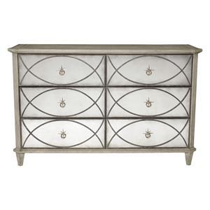 Dresser with Antique Mirror Drawer Fronts