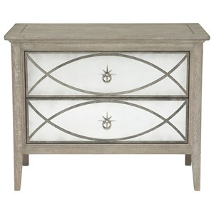 Nightstand with Antique Mirror Drawer Fronts