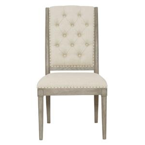 Side Chair with Button Tufting