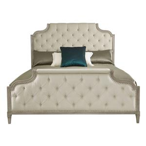 King Upholstered Bed with Button Tufting