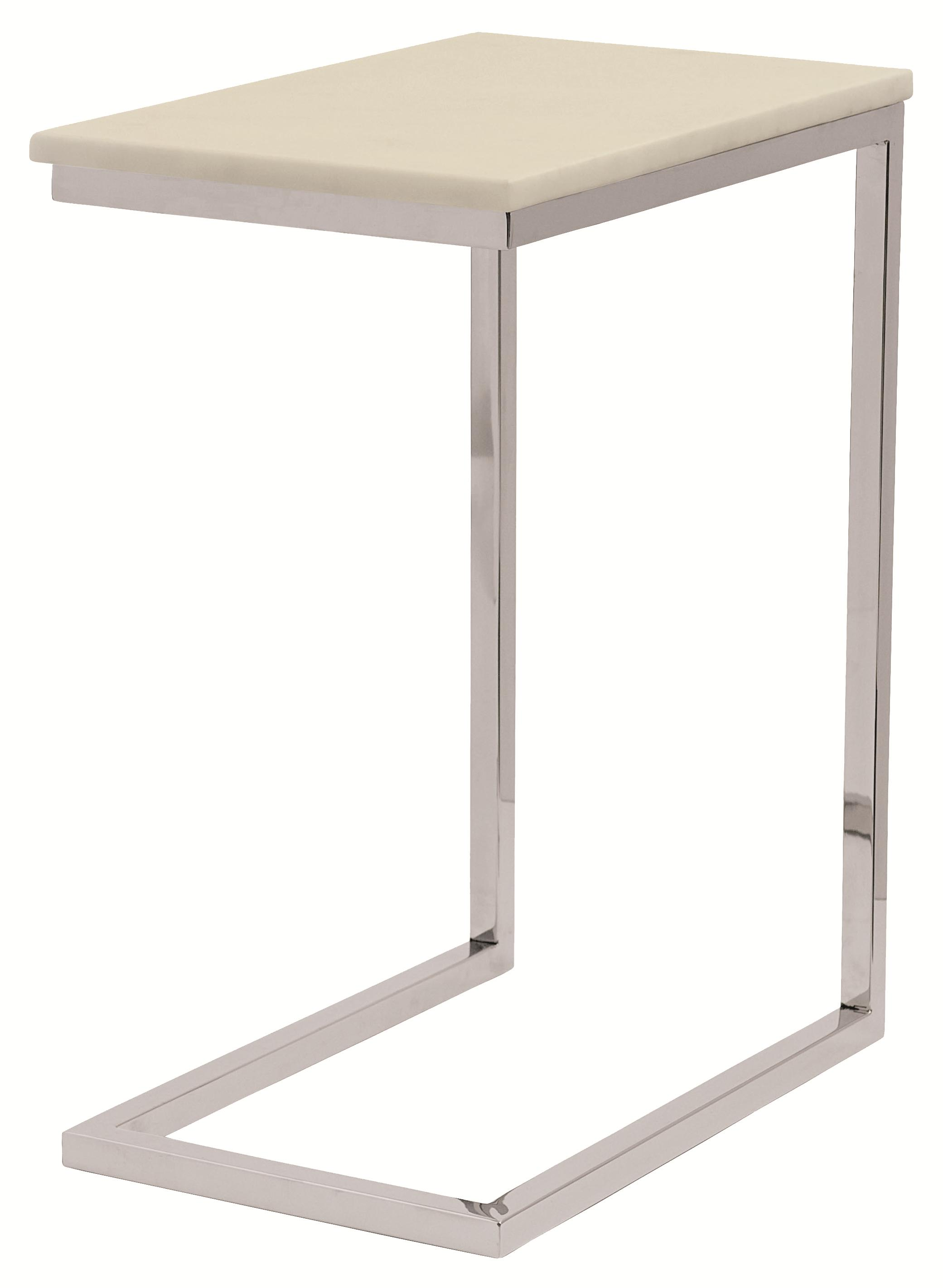 Marston  Ivory Marble Pull-Up Table by Bernhardt at Nassau Furniture and Mattress