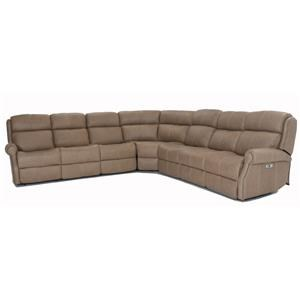 Power Headrest Reclining Sectional with USB Ports