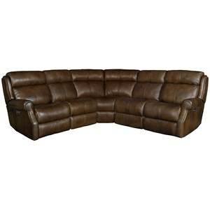 Three Piece Power Reclining Leather Sectional Sofa with Power Tilt Headrests and USB Charging Ports