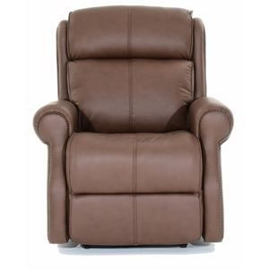 Leather Power Reclining Chair with Power Tilt Headrest and USB Charging Port