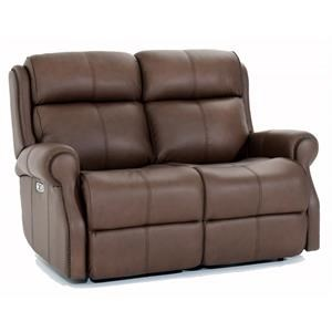 Leather Power Reclining Loveseat with Power Tilt Headrests and USB Charging Ports