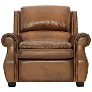 Transitional Power High Leg Recliner with Power Headrest and USB Port