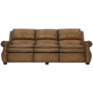 Transitional Power Motion Sofa with Power Headrests and USB Port