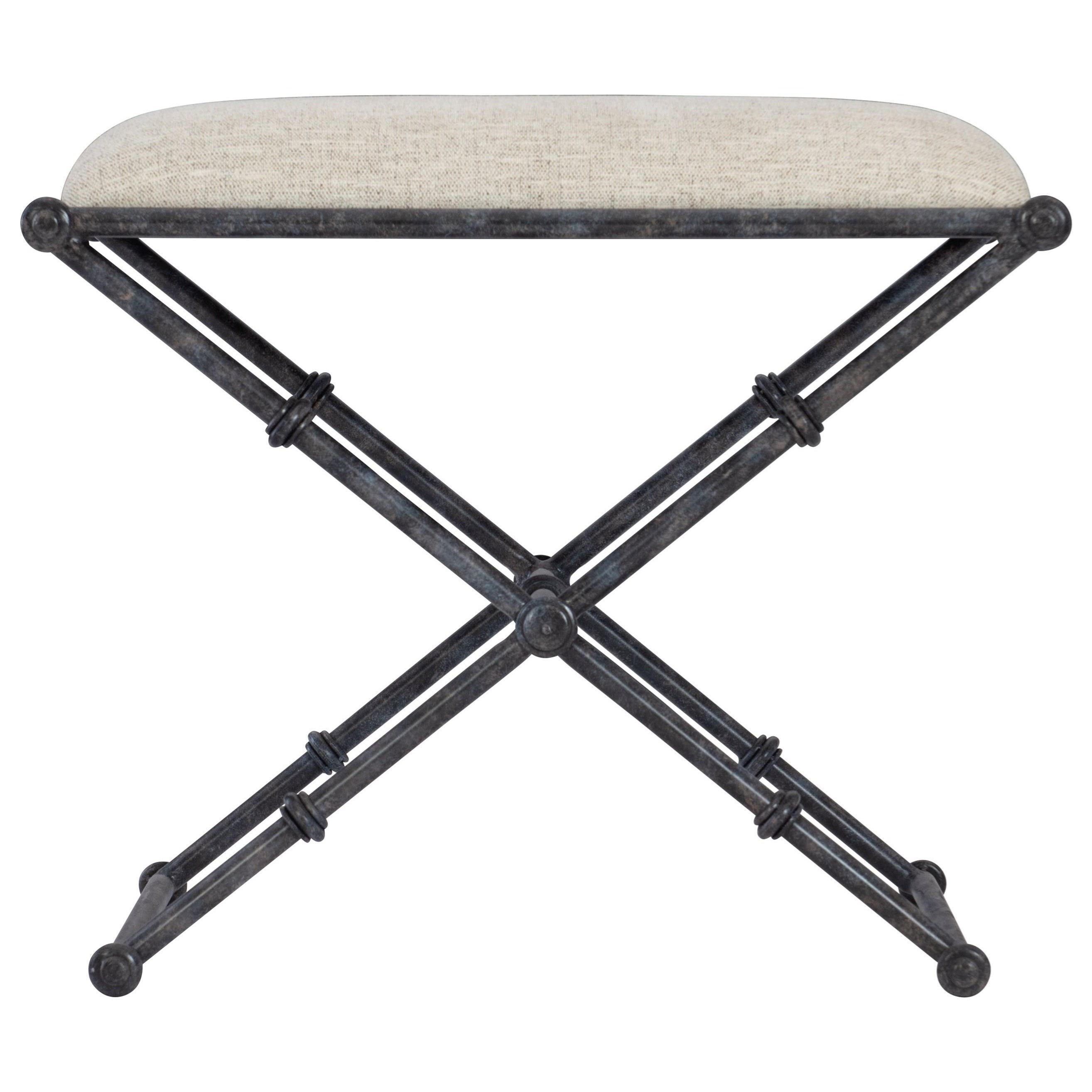 Mirabelle Metal Bench by Bernhardt at Baer's Furniture