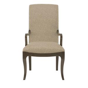 Customizable Upholstered Dining Arm Chair with Smooth Curved Frame