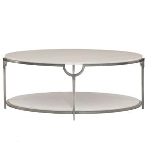 Oval Cocktail Table with Faux Marble Top