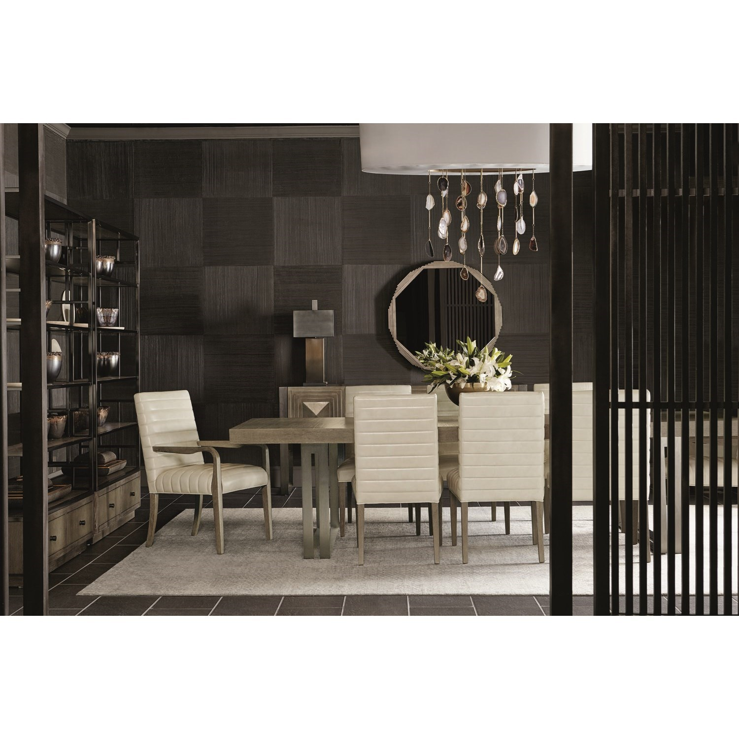 "Mosaic 120"" Dining Table and 8 Chair Set by Bernhardt at Jacksonville Furniture Mart"