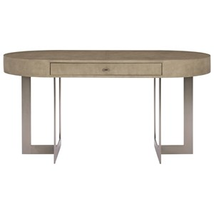 Oval Writing Desk with Stainless Steel Base