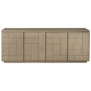 4 Door Entertainment Console with Adjustable Shelves