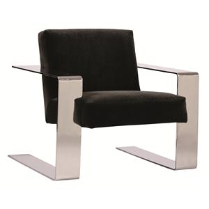 Modern Chair with Chrome Metal Legs and Arms for Contemporary Style