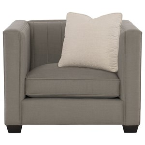 Contemporary Chair with Line Tufting