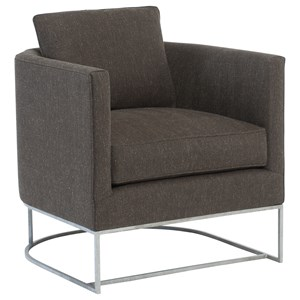 Contemporary Chair with Metal Base