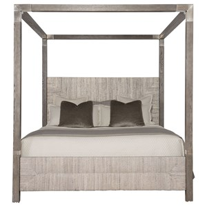 King Woven Abaca Canopy Bed