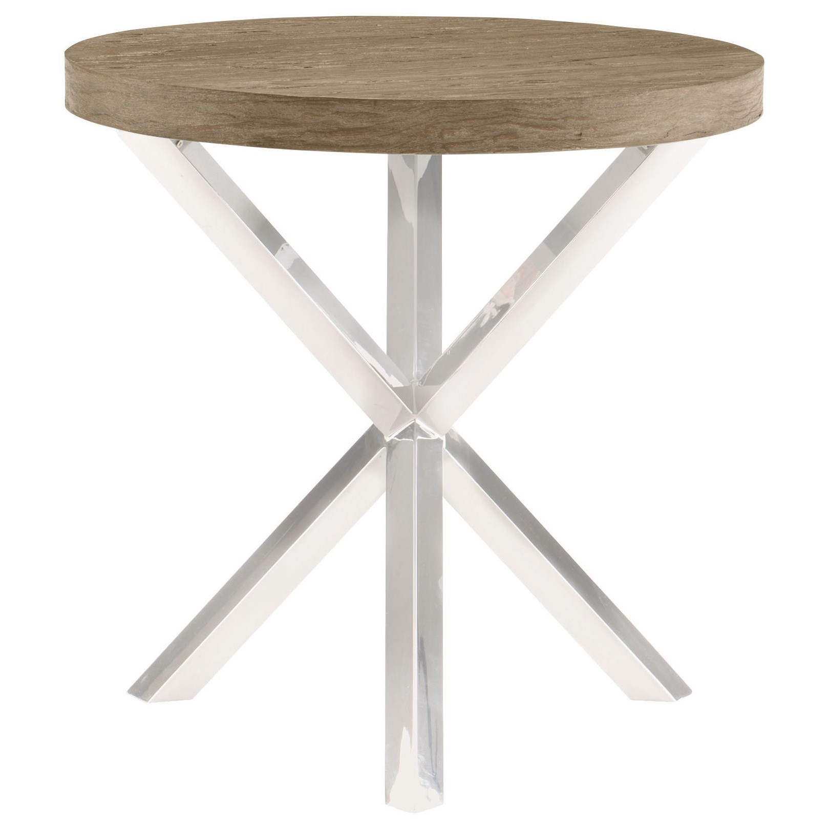 Pelham Round Chairside Table by Bernhardt at Fisher Home Furnishings