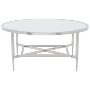 Contemporary Metal Round Cocktail Table