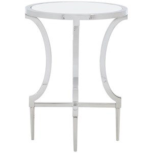Contemporary Metal Round Drink Table