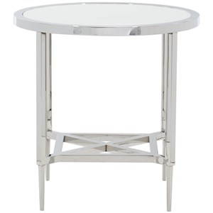 Contemporary Metal Round End Table