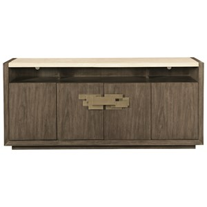 Four Door Buffet with Travertine Stone Top