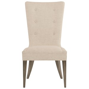 Upholstered Side Chair with Button Trim