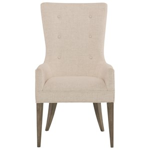Upholstered Arm Chair with Button Trim