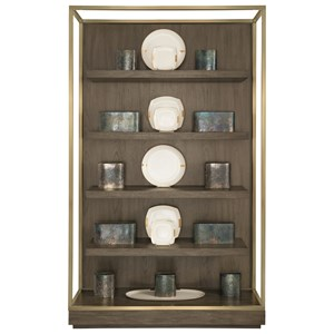 Etagere With Stainless Steel Frame and 4 Floating Shelves