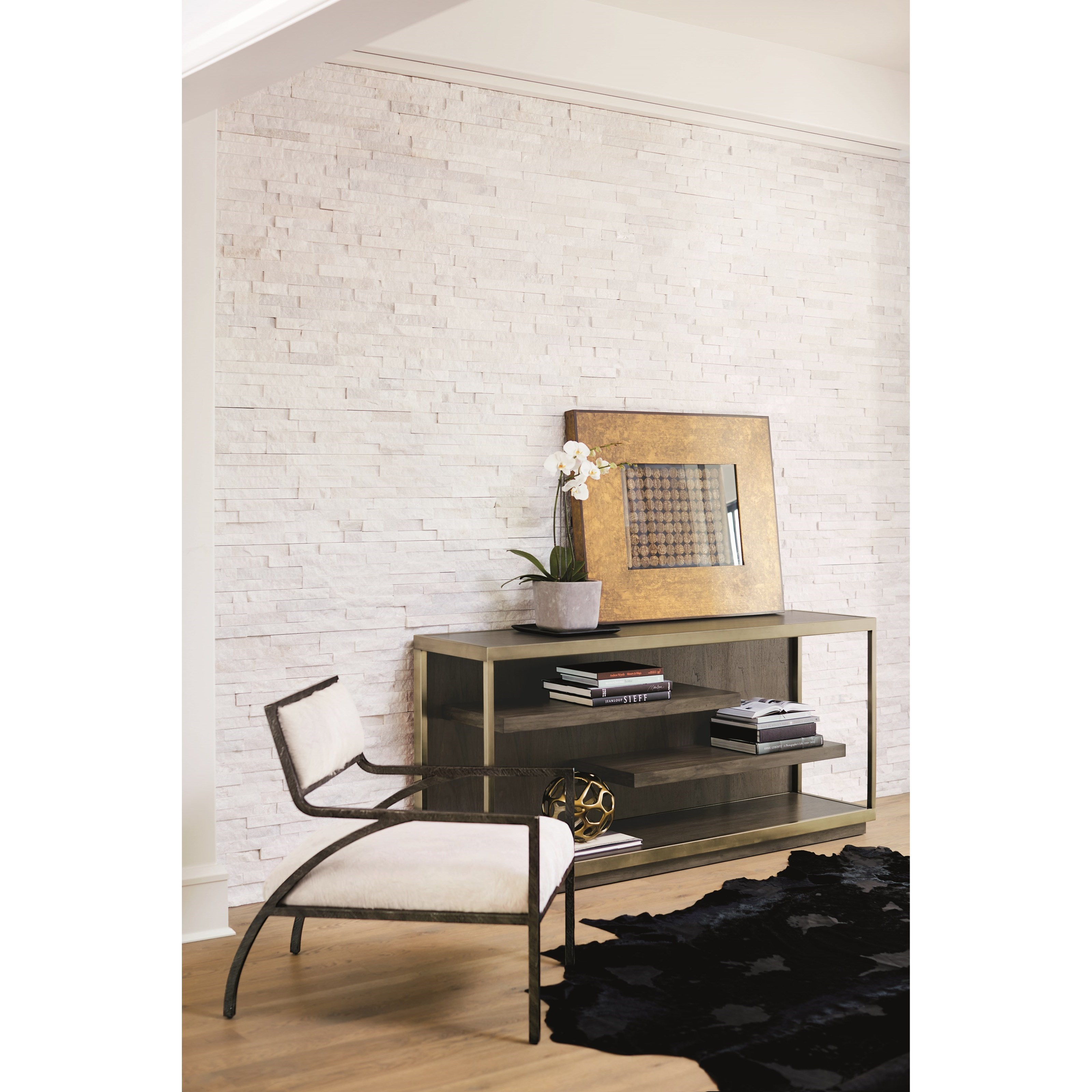 Profile Console Table by Bernhardt at Baer's Furniture