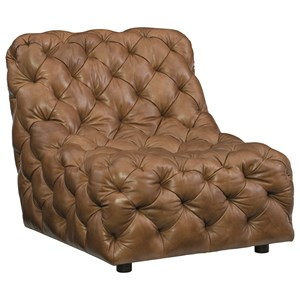 Armless Tufted Chair with Modern Design
