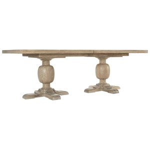 """Rustic Rectangular Dining Table with 2 20"""" Leaves"""