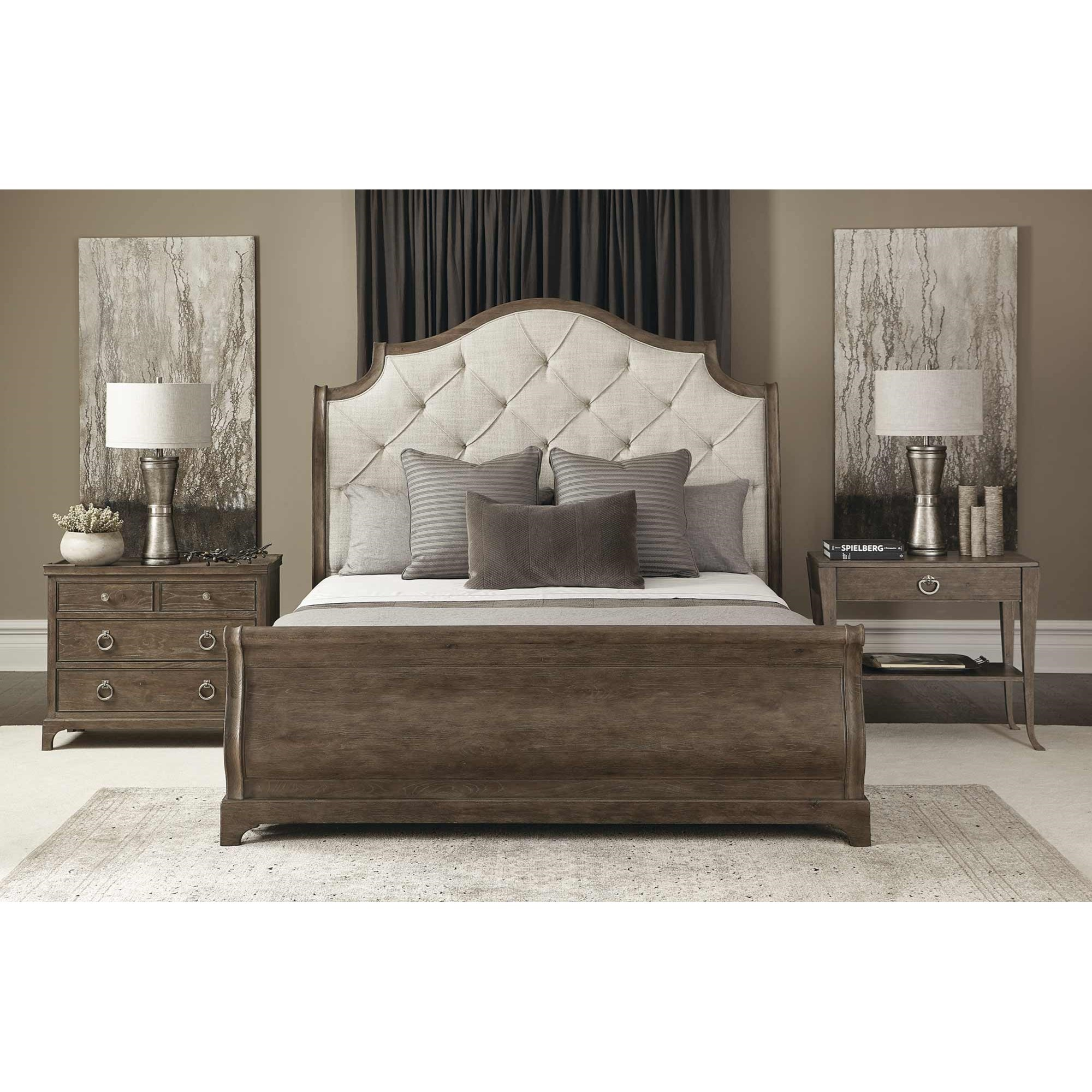 Rustic Patina California King Bedroom Group by Bernhardt at Nassau Furniture and Mattress