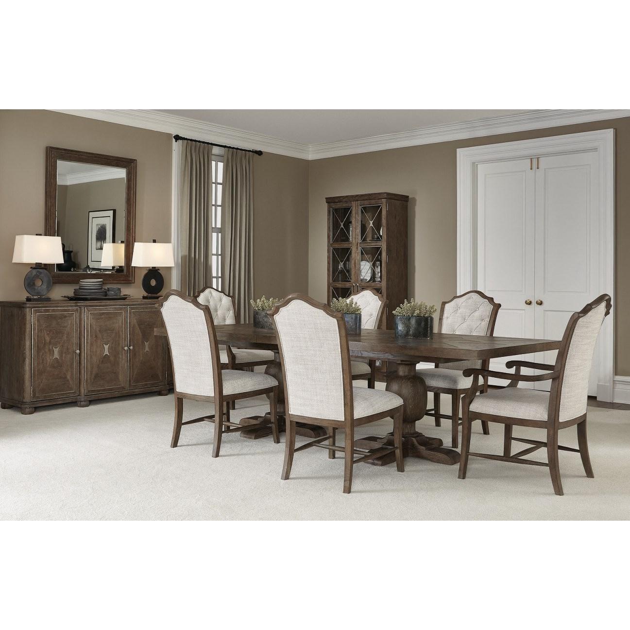 Rustic Patina Dining Room Group at Williams & Kay