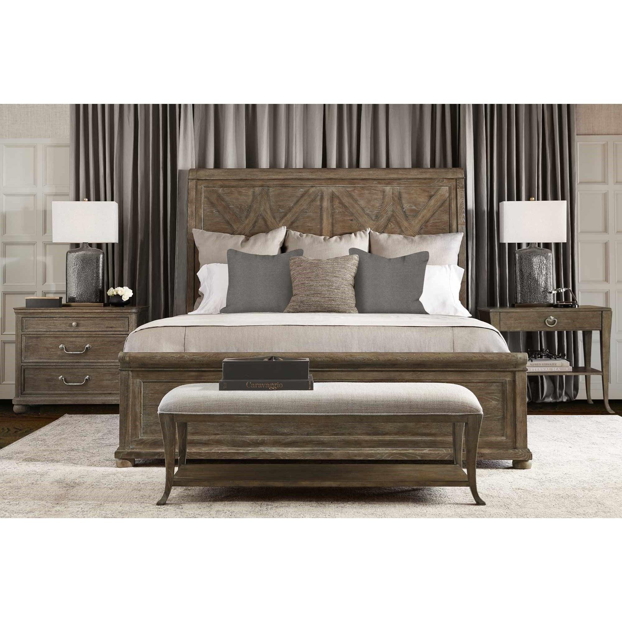 Rustic Patina King Bedroom Group at Williams & Kay