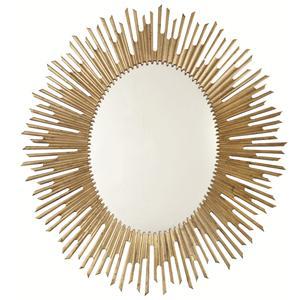Sunburst Oval Mirror