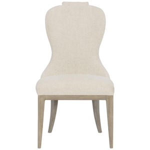 Transitional Upholstered Side Chair with Welt Trim