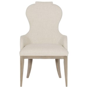 Transitional Upholstered Arm Chair with Welt Trim