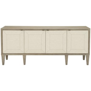 Transitional 4-Door Entertainment Console