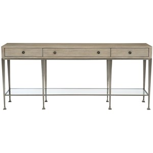 Transitional 3-Drawer Console Table