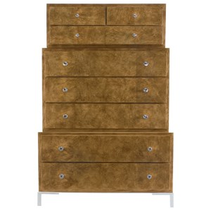 Contemporary Three-Tiered Tall Chest with 8-Drawers