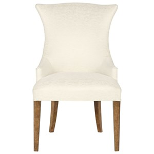 Upholstered Arm Chair with Wing Back Design