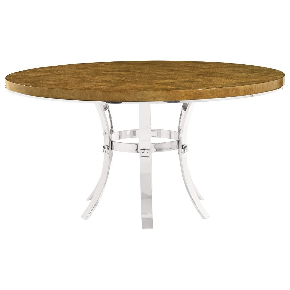 Soho Luxe Modern Round Dining Table by Bernhardt at Fisher Home Furnishings