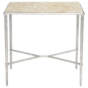 Side Table with Stone Top